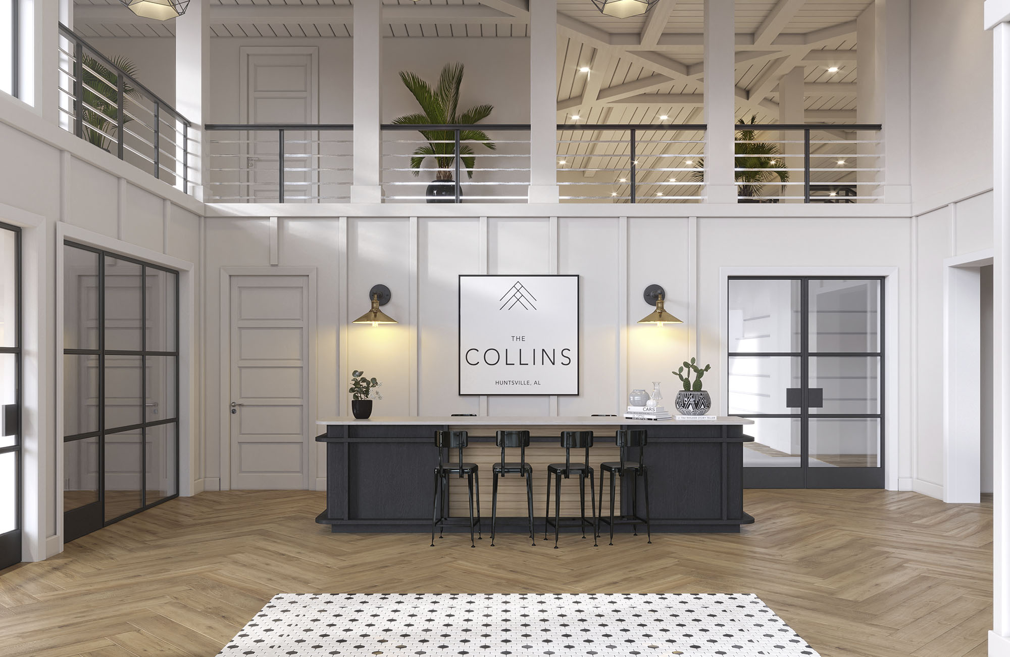 The Collins Apartments Leasing Office with Desk